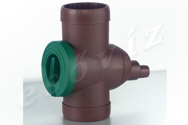 Esővíz Webáruház - PREMIERTECH AQUA Inox szűrő barna ereszcsatorna szűrő vízlopó