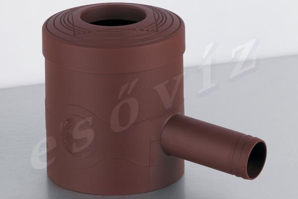Esővíz Webáruház - PREMIERTECH AQUA Standard barna ereszcsatorna vízlopó